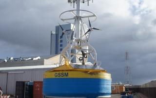 GSSM buoy assembled under test