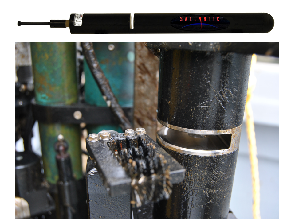 Sea-Bird provides dissolved nitrates instruments for the Ocean Observatories Initiative. Shown above is a SUNA sensor able to provide real-time chemical free nitrate calculations in deep ocean environments. (Photo provided by Satlantic, Inc.)