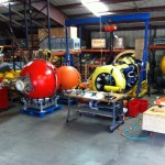 SeaCycler and mooring equipment are staged at Scripps Institution of Oceanography for burn-in. (Photo Credit: Paul Chua)
