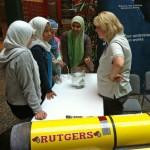 Kerry Beck, OOI Communications Director, explains how gliders rise and sink through the water using buoyancy. (Photo Credit: Mike Crowley)