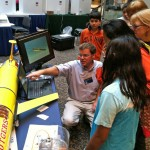 Mike Crowley, OOI EPE, describes real time glider data. (Photo credit: Leslie Smith)