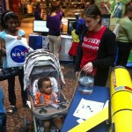 Youngest Glider Operator. Children of all ages visited the OOI booth. (Photo Credit: Mike Crowley)