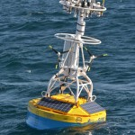 Irminger Sea Surface Mooring deployed in 2.8km of water. (Photo Credit: WHOI)