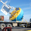 Global Southern Ocean Surface Buoy sits on truck ready for loading on R/V Atlantis in Punta Arenas, Chile before the Southern Ocean Array deployment cruise. (Credit: Bob Weller, Woods Hole Oceanographic Institution)