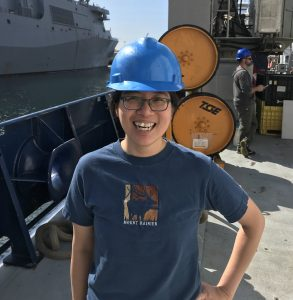 On the deck on R/V Roger Revelle after VISIONS'18 concluded in Seattle. Credit: Romina Centurion/UW