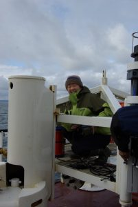 Deploying instruments during an Ocean Networks Canada maintenance cruise. Credit: Ocean Networks Canada