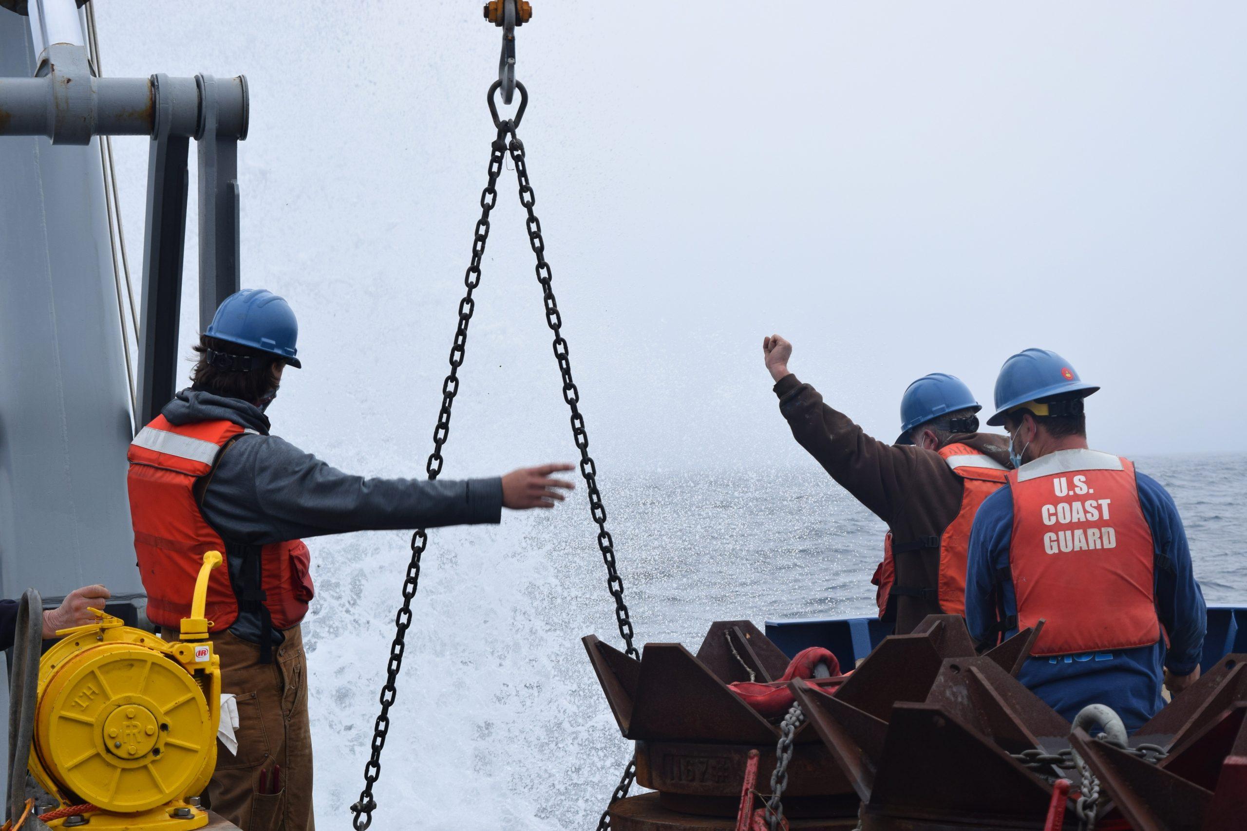 Profiler off stern